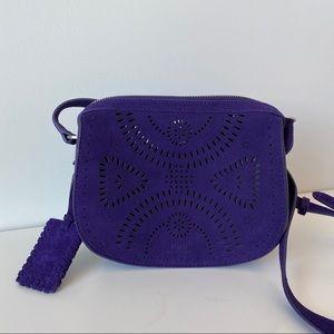 Polo by Ralph Lauren Purple Suede Crossbody Bag